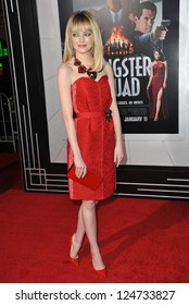 """Emma Stone at the world premiere of her movie """"Gangster Squad"""" at Grauman's Chinese Theatre, Hollywood. January 7, 2013  Los Angeles, CA Picture: Paul Smith"""