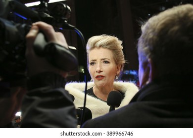Emma Thompson attends the 'Alone in Berlin' (Jeder stirbt fuer sich) premiere during the 66th Berlinale Film Festival Berlin at Berlinale Palace on February 15, 2016 in Berlin, Germany.