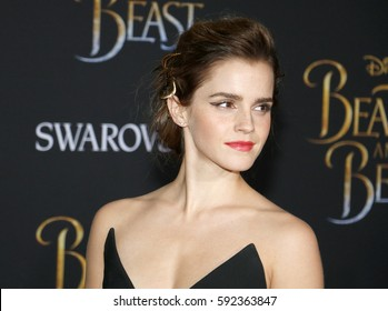 Emma Watson at the Los Angeles premiere of 'Beauty And The Beast' held at the El Capitan Theatre in Hollywood, USA on March 2, 2017.