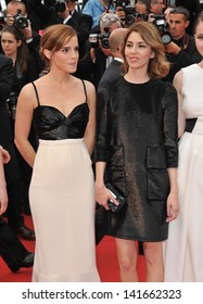 """Emma Watson & Sofia Coppola at the gala premiere of their movie """"The Bling Ring"""" at the 66th Festival de Cannes. May 16, 2013  Cannes, France"""