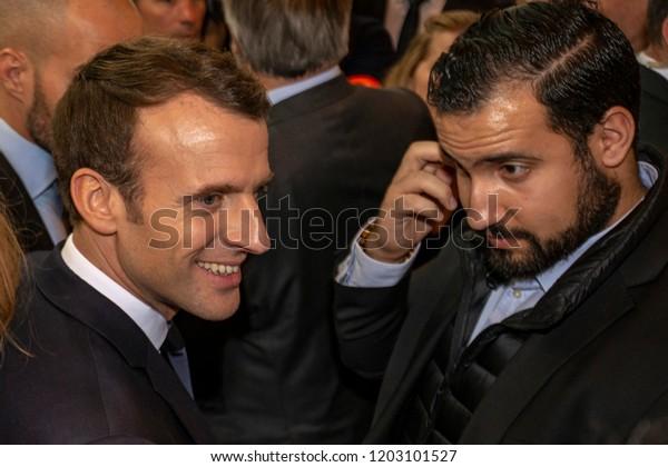 Emmanuel Macron L Alexandre Benalla R Stock Photo Edit Now