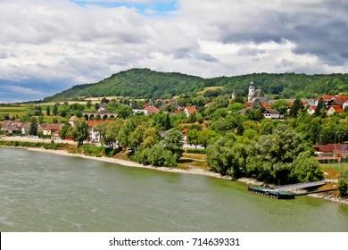 Emmersdorf an der Donau, a town in the district of Melk in the Austrian state of Lower Austria, Wachau Valley, Austria (Osterreich)