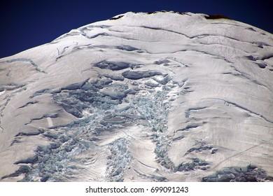 Emmons Glacier on the east slopes of Mount Rainier, National Park, Washington