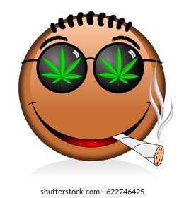 marijuana-leaf-cartoon images, stock photos & vectors | shutterstock