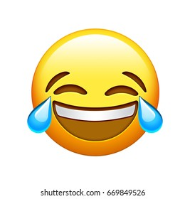 The emoji yellow face lol laugh and crying tear icon