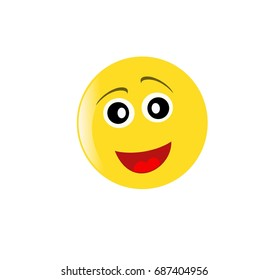 Emoticons face isolated on white background. Simple illustration.