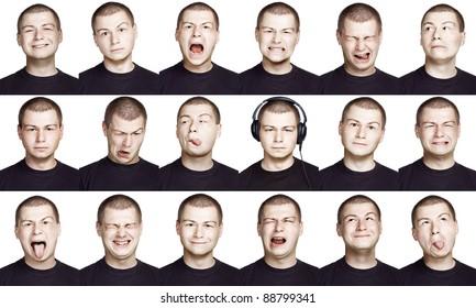 Emotion face of a man - fine-art portrait