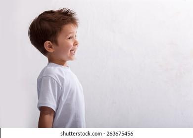 Emotion, laughter, joy, delight, the little boy