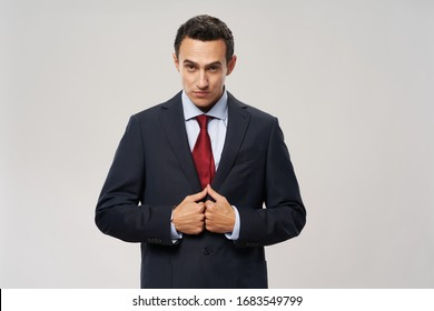 Emotional business man suit lifestyle official office