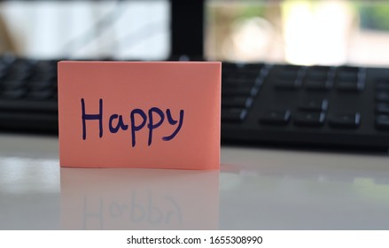Emotional expression The happy note