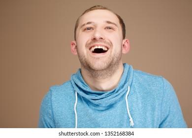 emotional man posing on the camera