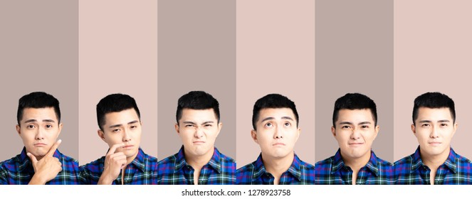 emotional pictures of asian young man