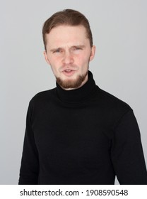 emotional portrait of an adult man