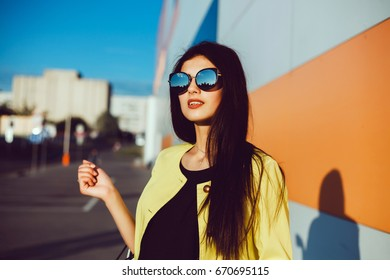 ac44c5d1c4f Emotional portrait of Fashion stylish portrait of pretty young hipster  blonde woman