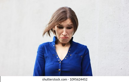 Emotional young woman. Refusal. Sad woman. Be sad. Depression, pain, bitterness, resentment. Crying girl. Cry. Lost. Looser. Hysteria. Disappointment. Bad news. Bad girl. Emotion. Divorced.