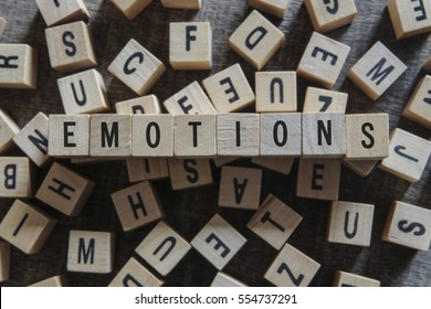 Emotions word concept