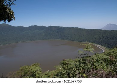 Empakai Crater with a Crater Lake in Ngorongoro Conservation Area Authority, Arusha, Tanzania