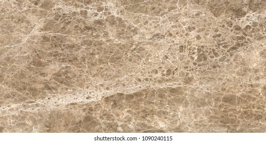 emperador marble with small uneven figure in dark background and cream veins.