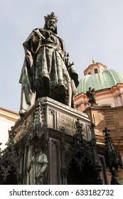 Emperor Charles IV. statue