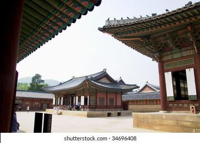 Emperor palace in Seoul. South Korea. Buildings