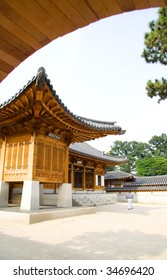 Emperor palace at Seoul. South Korea. Wooden buildings