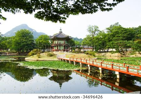 Emperor Palace Seoul South Korea Lake Stock Photo (Edit Now ...