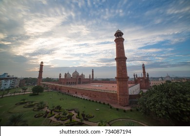 The Emperor's Mosque - Badshahi Masjid in Lahore, Pakistan Full exterior, Lahore, Pakistan September, 2017