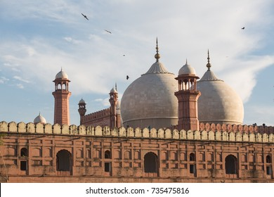 The Emperor's Mosque - Badshahi Masjid in Lahore, Pakistan Dome with Minarets