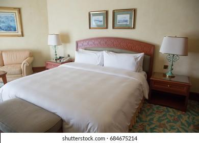 THE EMPIRE HOTEL & COUNTRY CLUB, BRUNEI, NOVEMBER, 2016: hotel room of the Empire Hotel at Brunei
