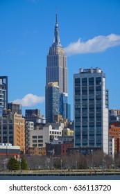 Empire State Building New York- MANHATTAN / NEW YORK - APRIL 1, 2017