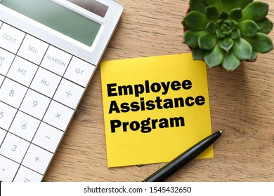 Employee Assistance Program business text on the yellow card