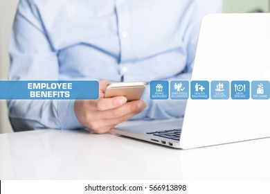 Employee Benefits Concept with Icon Set