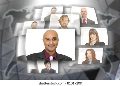 Employee or business people images with modern technology