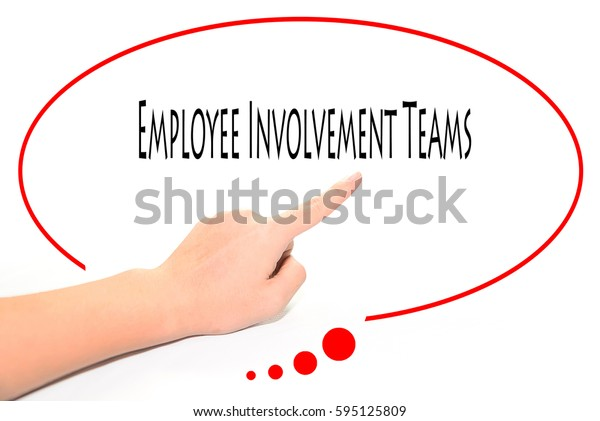 Employee Involvement Teams -  Hand writing word to represent the meaning of Business word as concept.