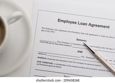 Employee loan agreement