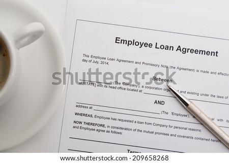 Employee Loan Agreement Stock Photo Edit Now 209658268 Shutterstock