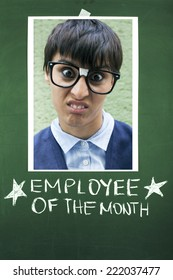Employee of the Month Concept / Announcement of the Employee of the Month in Office Place