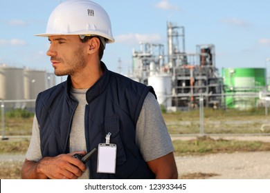Employee on a building site