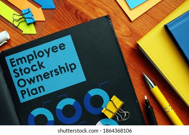 Employee Stock Ownership Plan ESOP and charts on the black pages.
