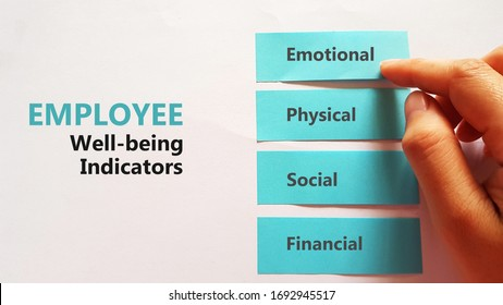 Employee Well-being Indicators checklist using sticky pad