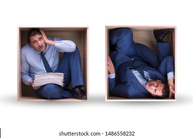 Employee working in tight space