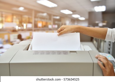 Employees are Photocopying in office