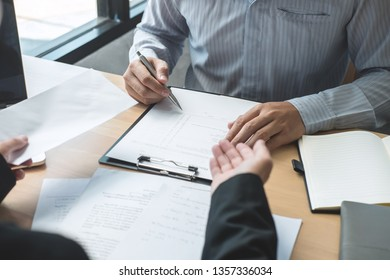 Employer boss sending a remuneration letter to businessman in order to dismiss contract, changing and resigning from work concept.