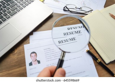 The employer looks at the resume and picks up staff. Staff search