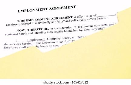 Employment Agreement File Folder Standard Employment Stock Photo ...