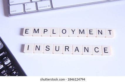 Employment Insurance Conceptual Title. Top view of Connected Letters Game. - Shutterstock ID 1846124794