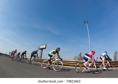 EMPOLI, FIRENZE, ITALY - MARCH 10: Cyclists during the 2nd stage of 2011 Tirreno-Adriatico on March 10, 2011 in Empoli, Firenze, Italy