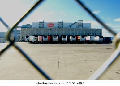 Emporia, Kansas, USA, October 12, 2013Tyson's meat  processing  plant