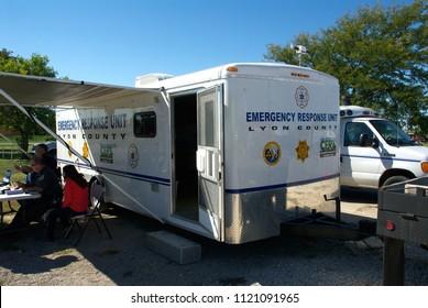 Emporia Kansas, USA, October 12, 2013Emergency response unit of the Lyon County Emergency Management agency