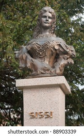 Empress Elisabeth of Austria and Queen of Hungary, also known as Sissi (Sisi). sculpture in Presov, Slovakia.